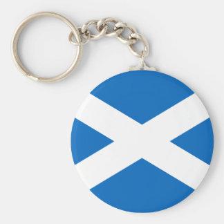 Corrente chave da bandeira escocesa chaveiro