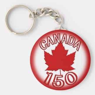 Corrente chave da lembrança de Canadá 150 & folha Chaveiro