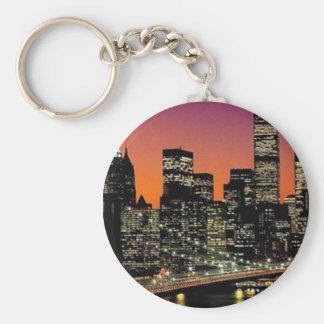 Corrente chave da visão da cidade chaveiro