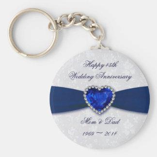 Corrente chave de aniversário de casamento do chaveiro