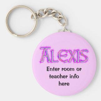 Corrente chave do nome de etiqueta de Alexis Chaveiro