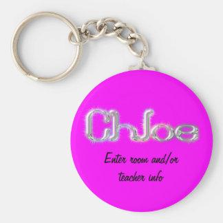 Corrente chave do nome de etiqueta de Chloe Chaveiro