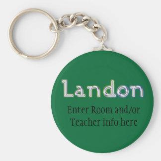 Corrente chave do nome de etiqueta de Landon Chaveiros
