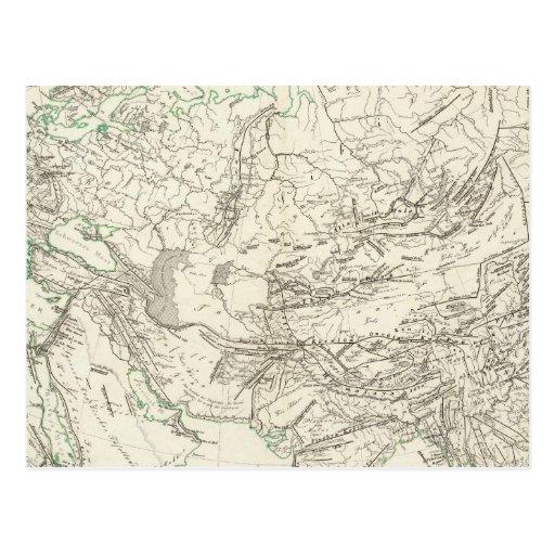 Correntes de montanha em Ásia e em Europa Cartao Postal