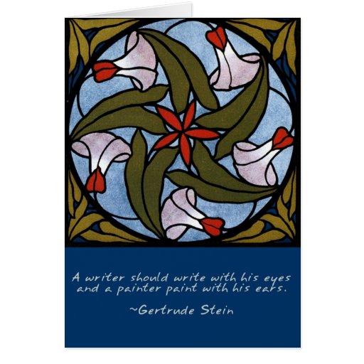 Corriolas brancas - citações de Gertrude Stein Cartão Comemorativo