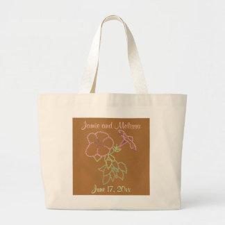 Corriolas cor-de-rosa, sacolas Wedding Sacola Tote Jumbo