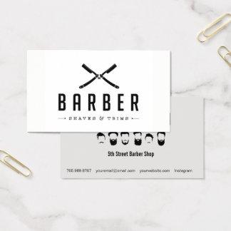 Corte da barbearia & cartão de visita