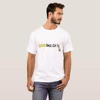 Corte duas vezes camiseta