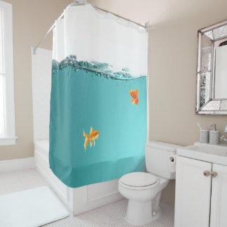 Cortina de chá do peixe dourado cortina para chuveiro