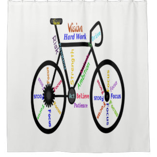 Cortina Para Box Bicicleta inspirador das palavras da cor feita sob