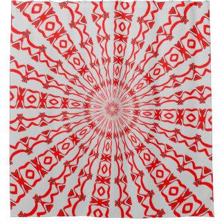Cortina Para Box Cortina de chá vermelha do caleidoscópio
