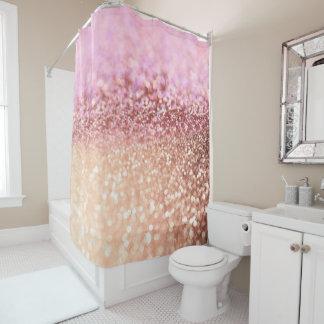 Cortina Para Box Inclinação cor-de-rosa Sparkling do brilho de