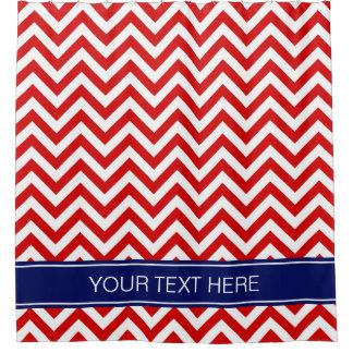 Cortina Para Box Monograma vermelho do nome dos azuis marinhos do