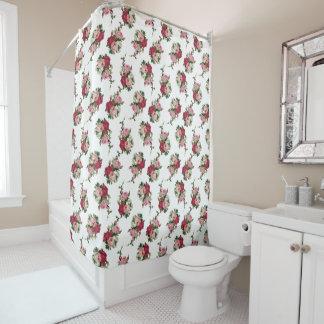 Cortina Para Box Rosas bonito de chintz da casa de campo