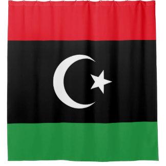 Cortina Para Chuveiro Bandeira de Líbia