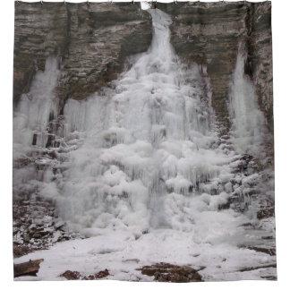 Cortina Para Chuveiro Cachoeira congelada da garganta