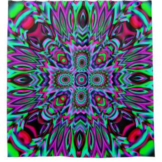 Cortina Para Chuveiro Caleidoscópio colorido