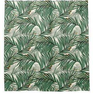 Cortina Para Chuveiro Folhas de palmeira
