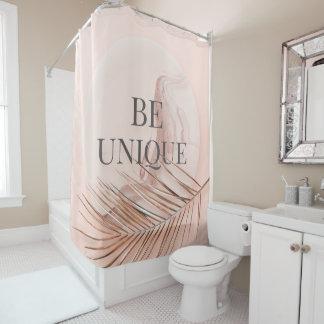 Cortina Para Chuveiro SEJA tipografia na moda do ouro cor-de-rosa do