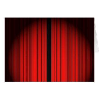 Cortina vermelha cartão comemorativo
