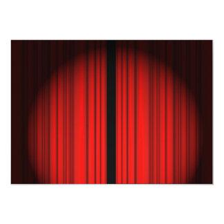 Cortina vermelha convite 12.7 x 17.78cm