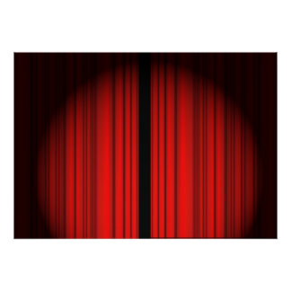 Cortina vermelha poster
