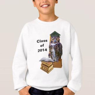 Coruja 2014 cómico da graduação customizável camiseta