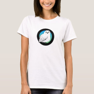 coruja da neve camisetas