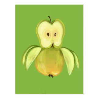 Coruja de Apple Cartão Postal