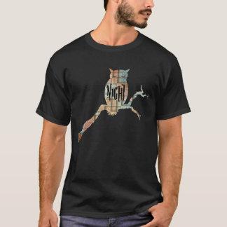 Coruja de noite camiseta