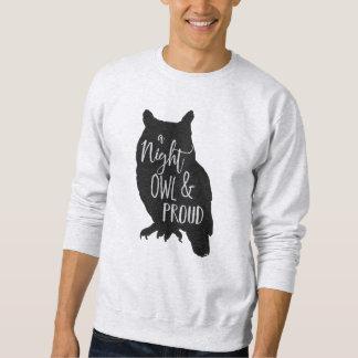Coruja de noite suéter