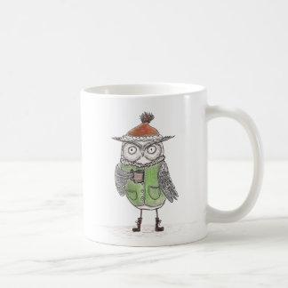Coruja do inverno caneca de café