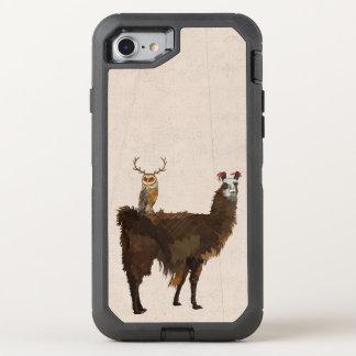 Coruja do lama & do Antler Capa Para iPhone 7 OtterBox Defender