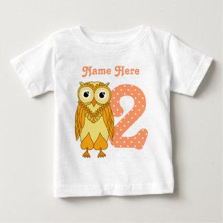 Coruja do segundo aniversário t-shirt