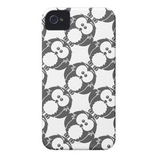 Coruja retro capas de iPhone 4 Case-Mate