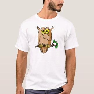 Coruja sábia camiseta