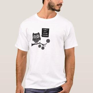 coruja, saboroso t-shirts