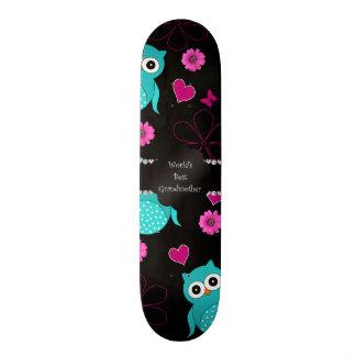 Corujas da avó do mundo as melhores shape de skate 20,6cm