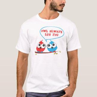 corujas do bebê camiseta