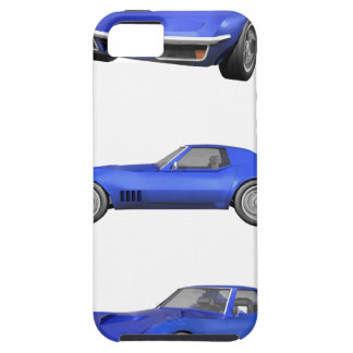 Corveta 1970: Revestimento azul: Capa Tough Para iPhone 5
