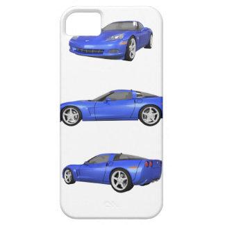 Corveta azul: capa barely there para iPhone 5