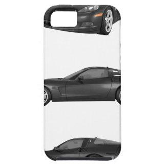 Corveta preta capas para iPhone 5