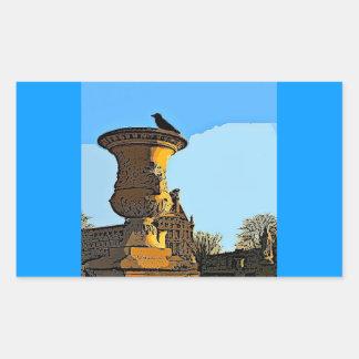 Corvo do DES Tuileries de Jardin - pintura Adesivo Retangular