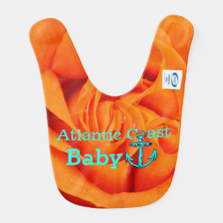 Costa cor-de-rosa de Atlântico do babador do bebê