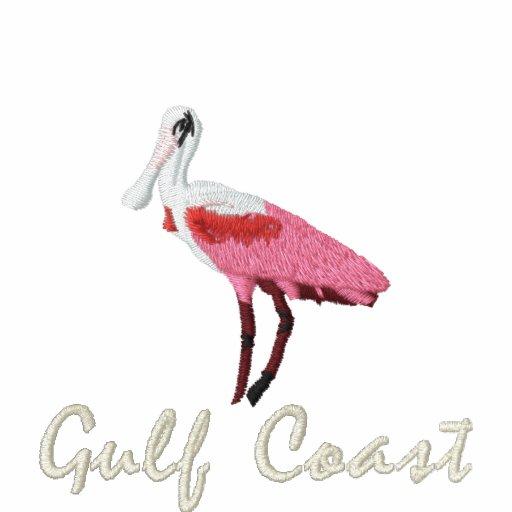 Costa do golfo do spoonbill róseo polo