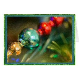 Costa festiva do garland. do Natal Cartão