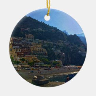 Costa italiana ornamento de cerâmica redondo