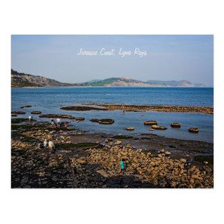 Costa jurássico, Lyme Regis, Dorset Cartão Postal