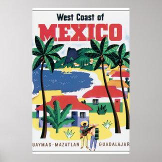 Costa oeste de trabalhos de arte do poster das pôster