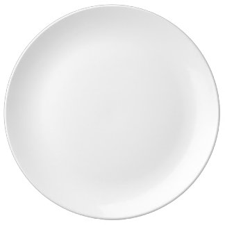 "Costume 10,75"" placa decorativa da porcelana louça"